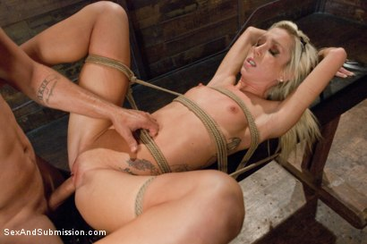 Photo number 12 from Hot Little Blonde Gets Taken Down!  Rough and Kinky Sex shot for Sex And Submission on Kink.com. Featuring Mr. Pete and Maia Davis in hardcore BDSM & Fetish porn.