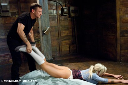 Photo number 2 from Hot Little Blonde Gets Taken Down!  Rough and Kinky Sex shot for Sex And Submission on Kink.com. Featuring Mr. Pete and Maia Davis in hardcore BDSM & Fetish porn.