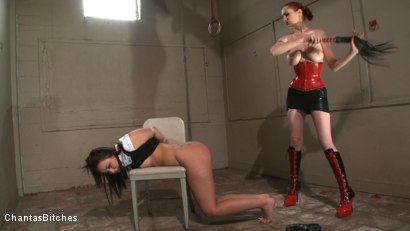 Photo number 4 from No One Keeps Mz Berlin Waiting! shot for Chantas Bitches on Kink.com. Featuring Mz Berlin and Alexa Von Tess in hardcore BDSM & Fetish porn.