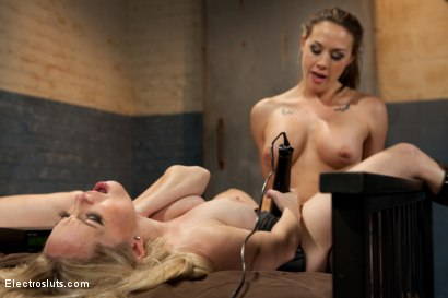 Photo number 11 from Electrosluts Presents: To Sovereign with Love shot for Electro Sluts on Kink.com. Featuring Chanel Preston, Sovereign Syre and Aiden Starr in hardcore BDSM & Fetish porn.