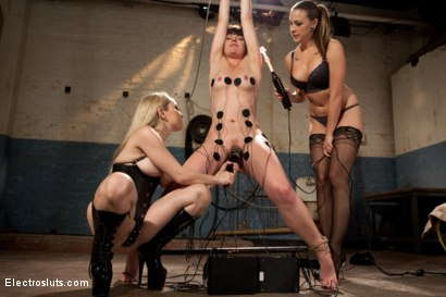 Photo number 5 from Electrosluts Presents: To Sovereign with Love shot for Electro Sluts on Kink.com. Featuring Chanel Preston, Sovereign Syre and Aiden Starr in hardcore BDSM & Fetish porn.