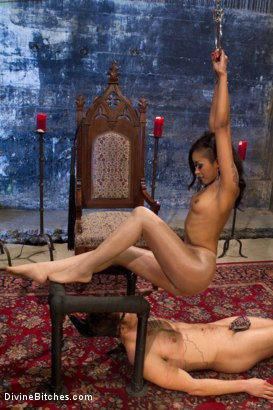 Photo number 6 from Prostate Milking Denial shot for Divine Bitches on Kink.com. Featuring Skin Diamond and Steve Sterling in hardcore BDSM & Fetish porn.