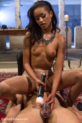 Photo number 15 from Prostate Milking Denial shot for Divine Bitches on Kink.com. Featuring Skin Diamond and Steve Sterling in hardcore BDSM & Fetish porn.