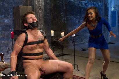 Photo number 2 from Prostate Milking Denial shot for Divine Bitches on Kink.com. Featuring Skin Diamond and Steve Sterling in hardcore BDSM & Fetish porn.