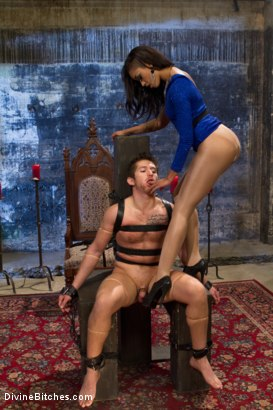 Photo number 13 from Prostate Milking Denial shot for Divine Bitches on Kink.com. Featuring Skin Diamond and Steve Sterling in hardcore BDSM & Fetish porn.