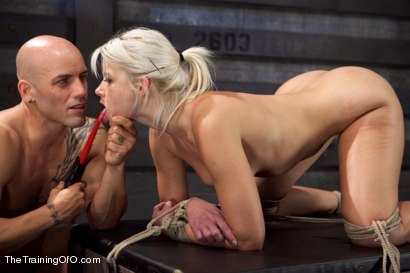 Photo number 14 from Training Anikka Albrite, Day 4 shot for The Training Of O on Kink.com. Featuring Derrick Pierce and Anikka Albrite in hardcore BDSM & Fetish porn.