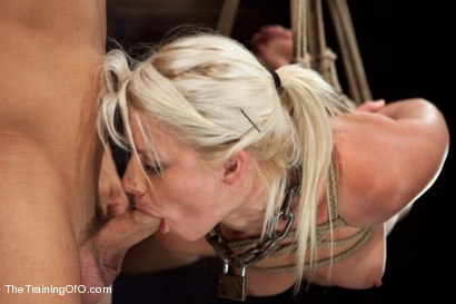 Photo number 6 from Training Anikka Albrite, Day 4 shot for The Training Of O on Kink.com. Featuring Derrick Pierce and Anikka Albrite in hardcore BDSM & Fetish porn.