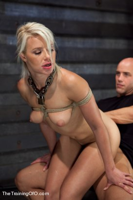Photo number 12 from Training Anikka Albrite, Day 4 shot for The Training Of O on Kink.com. Featuring Derrick Pierce and Anikka Albrite in hardcore BDSM & Fetish porn.