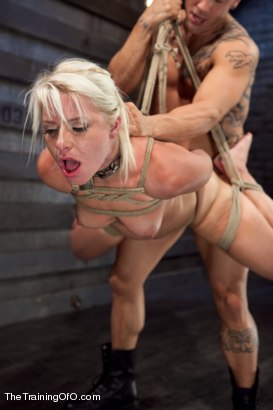 Photo number 7 from Training Anikka Albrite, Day 4 shot for The Training Of O on Kink.com. Featuring Derrick Pierce and Anikka Albrite in hardcore BDSM & Fetish porn.