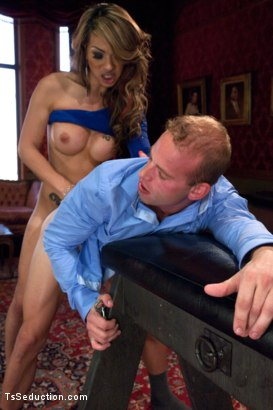 Photo number 5 from Transsexual Shooting Cum Load: NewComer Chriselle Shows off her Cock shot for TS Seduction on Kink.com. Featuring Patrick Rouge and Chriselle in hardcore BDSM & Fetish porn.