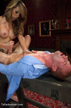 Photo number 10 from Transsexual Shooting Cum Load: NewComer Chriselle Shows off her Cock shot for TS Seduction on Kink.com. Featuring Patrick Rouge and Chriselle in hardcore BDSM & Fetish porn.