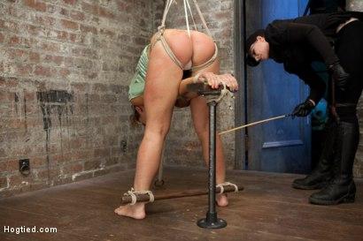 Photo number 3 from Audrey Rose Live Show - Complete Edited Version shot for Hogtied on Kink.com. Featuring Audrey Rose in hardcore BDSM & Fetish porn.
