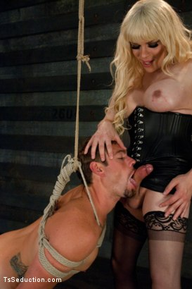 Photo number 8 from Five cum loads: Milked and Fucked By Ts Jesse shot for TS Seduction on Kink.com. Featuring John Jammen and Jesse in hardcore BDSM & Fetish porn.