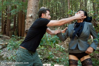 Photo number 1 from The Final Offer: Corporate Sluts Snatched in the Boondocks! shot for Sex And Submission on Kink.com. Featuring James Deen, Beretta James and Chanel Preston in hardcore BDSM & Fetish porn.