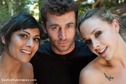 Photo number 15 from The Final Offer: Corporate Sluts Snatched in the Boondocks! shot for Sex And Submission on Kink.com. Featuring James Deen, Beretta James and Chanel Preston in hardcore BDSM & Fetish porn.