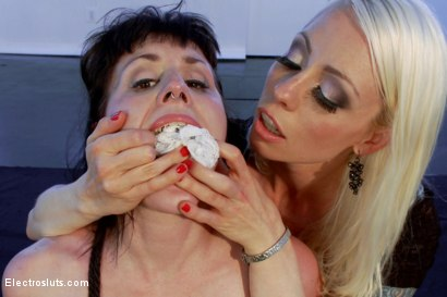 Photo number 5 from Electrosluts LIVE with Katherine Cane! shot for Electro Sluts on Kink.com. Featuring Lorelei Lee and Katharine Cane in hardcore BDSM & Fetish porn.