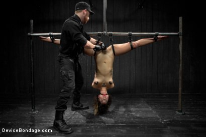 Photo number 21 from Wild hairy whore gets tamed. Bianca Stone: exotic, flexible treat! shot for Device Bondage on Kink.com. Featuring Bianca Stone and Sebastian Keys in hardcore BDSM & Fetish porn.