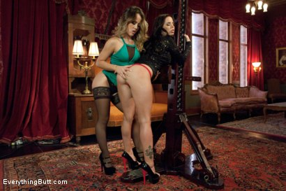 Photo number 2 from Strap-on Anal Sluts! shot for Everything Butt on Kink.com. Featuring Kristina Rose and Brandy Aniston in hardcore BDSM & Fetish porn.