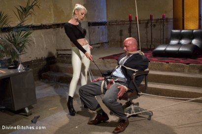 Photo number 1 from Your Cock Puts You At a Disadvantage In My Dungeon shot for Divine Bitches on Kink.com. Featuring Lorelei Lee and Chad Rock in hardcore BDSM & Fetish porn.