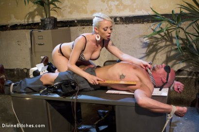 Photo number 5 from Your Cock Puts You At a Disadvantage In My Dungeon shot for Divine Bitches on Kink.com. Featuring Lorelei Lee and Chad Rock in hardcore BDSM & Fetish porn.