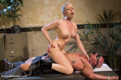 Photo number 6 from Your Cock Puts You At a Disadvantage In My Dungeon shot for Divine Bitches on Kink.com. Featuring Lorelei Lee and Chad Rock in hardcore BDSM & Fetish porn.