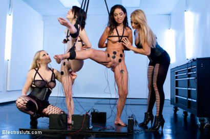 Photo number 8 from Breaking In Brunet Electrosluts! shot for Electro Sluts on Kink.com. Featuring Aiden Starr, Lea Lexis, Tegan Tate and Trinity St Clair in hardcore BDSM & Fetish porn.