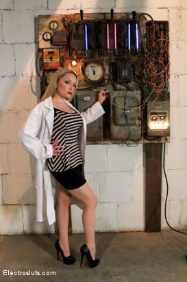 Photo number 3 from Electrosluts Presents: The Doctor's Monster! shot for Electro Sluts on Kink.com. Featuring Katharine Cane, Sovereign Syre and Aiden Starr in hardcore BDSM & Fetish porn.