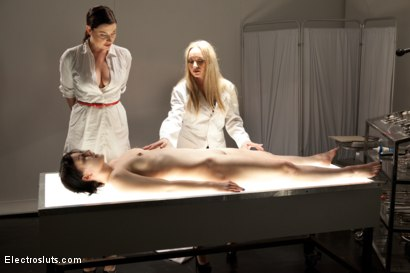 Photo number 4 from Electrosluts Presents: The Doctor's Monster! shot for Electro Sluts on Kink.com. Featuring Katharine Cane, Sovereign Syre and Aiden Starr in hardcore BDSM & Fetish porn.