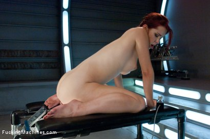 Photo number 12 from Long Legs, Firey Red Hair, Milky Skin and Machines fucking Her Pussy shot for Fucking Machines on Kink.com. Featuring Melody Jordan in hardcore BDSM & Fetish porn.
