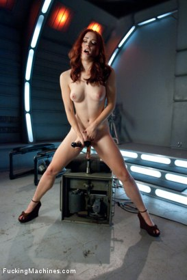 Photo number 3 from Long Legs, Firey Red Hair, Milky Skin and Machines fucking Her Pussy shot for Fucking Machines on Kink.com. Featuring Melody Jordan in hardcore BDSM & Fetish porn.