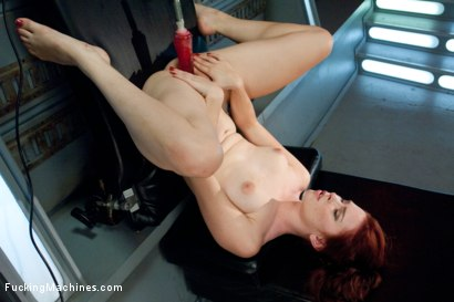 Photo number 9 from Sassy Red Head with Gorgeous Long Legs Fucked OUT by Machines shot for Fucking Machines on Kink.com. Featuring Melody Jordan in hardcore BDSM & Fetish porn.