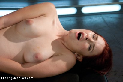 Photo number 12 from Sassy Red Head with Gorgeous Long Legs Fucked OUT by Machines shot for Fucking Machines on Kink.com. Featuring Melody Jordan in hardcore BDSM & Fetish porn.
