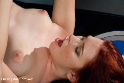 Photo number 8 from Sassy Red Head with Gorgeous Long Legs Fucked OUT by Machines shot for Fucking Machines on Kink.com. Featuring Melody Jordan in hardcore BDSM & Fetish porn.