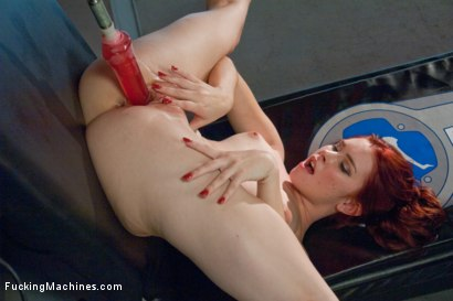 Photo number 11 from Sassy Red Head with Gorgeous Long Legs Fucked OUT by Machines shot for Fucking Machines on Kink.com. Featuring Melody Jordan in hardcore BDSM & Fetish porn.