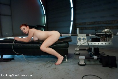 Photo number 5 from Sassy Red Head with Gorgeous Long Legs Fucked OUT by Machines shot for Fucking Machines on Kink.com. Featuring Melody Jordan in hardcore BDSM & Fetish porn.