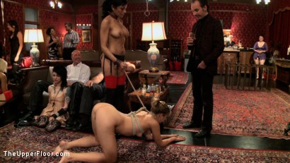 Photo number 12 from Slave Initiation: buttons shot for The Upper Floor on Kink.com. Featuring Dylan Ryan, Derrick Pierce, Chastity Lynn and Beretta James in hardcore BDSM & Fetish porn.