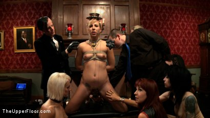 Photo number 13 from Slave Initiation: buttons shot for The Upper Floor on Kink.com. Featuring Dylan Ryan, Derrick Pierce, Chastity Lynn and Beretta James in hardcore BDSM & Fetish porn.