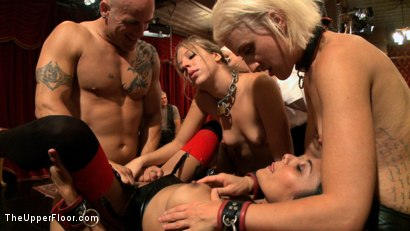 Photo number 3 from Slave Initiation: buttons shot for The Upper Floor on Kink.com. Featuring Dylan Ryan, Derrick Pierce, Chastity Lynn and Beretta James in hardcore BDSM & Fetish porn.