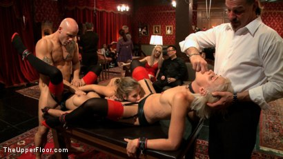 Photo number 4 from Slave Initiation: buttons shot for The Upper Floor on Kink.com. Featuring Dylan Ryan, Derrick Pierce, Chastity Lynn and Beretta James in hardcore BDSM & Fetish porn.