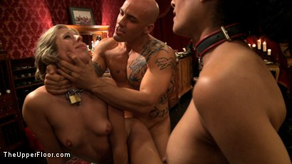 Photo number 5 from Slave Initiation: buttons shot for The Upper Floor on Kink.com. Featuring Dylan Ryan, Derrick Pierce, Chastity Lynn and Beretta James in hardcore BDSM & Fetish porn.