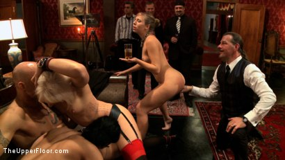 Photo number 6 from Slave Initiation: buttons shot for The Upper Floor on Kink.com. Featuring Dylan Ryan, Derrick Pierce, Chastity Lynn and Beretta James in hardcore BDSM & Fetish porn.