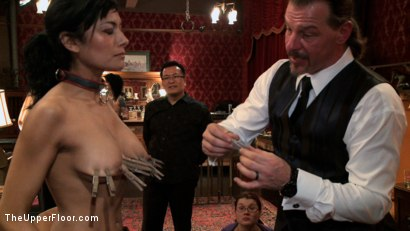 Photo number 10 from Slave Initiation: buttons shot for The Upper Floor on Kink.com. Featuring Dylan Ryan, Derrick Pierce, Chastity Lynn and Beretta James in hardcore BDSM & Fetish porn.
