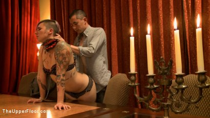 Photo number 9 from Community Dinner: Correcting O and Debauching Siouxie shot for The Upper Floor on Kink.com. Featuring Dylan Ryan and Odile in hardcore BDSM & Fetish porn.