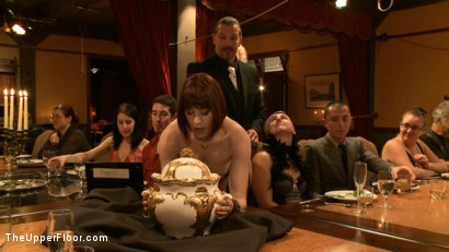 Photo number 1 from Community Dinner: Correcting O and Debauching Siouxie shot for The Upper Floor on Kink.com. Featuring Dylan Ryan and Odile in hardcore BDSM & Fetish porn.