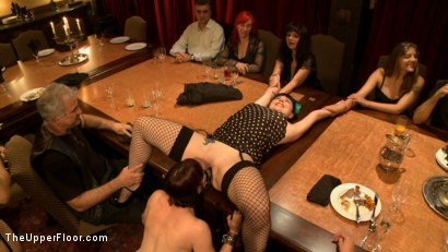 Photo number 15 from Community Dinner: Correcting O and Debauching Siouxie shot for The Upper Floor on Kink.com. Featuring Dylan Ryan and Odile in hardcore BDSM & Fetish porn.