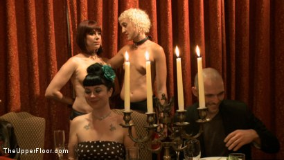 Photo number 17 from Community Dinner: Correcting O and Debauching Siouxie shot for The Upper Floor on Kink.com. Featuring Dylan Ryan and Odile in hardcore BDSM & Fetish porn.