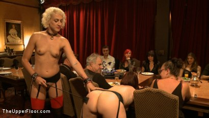 Photo number 18 from Community Dinner: Correcting O and Debauching Siouxie shot for The Upper Floor on Kink.com. Featuring Dylan Ryan and Odile in hardcore BDSM & Fetish porn.