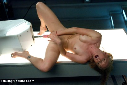 Photo number 4 from Sending the Ginger Girl into Cum Space with The Fucking Machines shot for Fucking Machines on Kink.com. Featuring Ami Emerson in hardcore BDSM & Fetish porn.