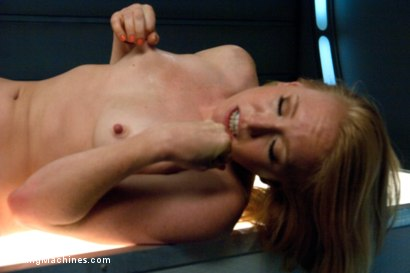 Photo number 13 from Sending the Ginger Girl into Cum Space with The Fucking Machines shot for Fucking Machines on Kink.com. Featuring Ami Emerson in hardcore BDSM & Fetish porn.