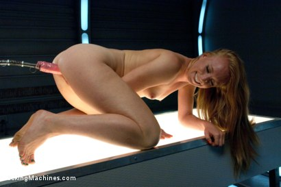 Photo number 10 from Sending the Ginger Girl into Cum Space with The Fucking Machines shot for Fucking Machines on Kink.com. Featuring Ami Emerson in hardcore BDSM & Fetish porn.